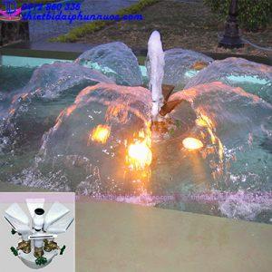 đầu phun nước hình hoa 6 cánh