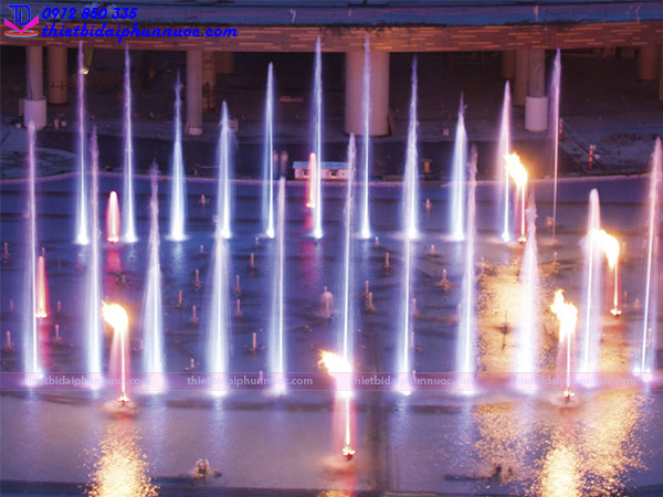 Vòi phun nước tạo lửa Fountain Flame 5