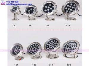 Các loại đèn Led âm nước dạng đế