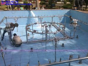 Hệ thống phun nước nghệ thuật công an Quảng Ninh