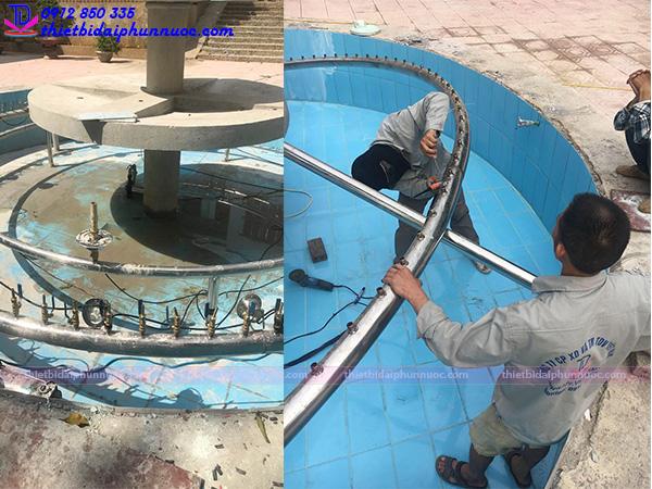 Đài phun nước cơ quan huyện ủy Tủa Chùa - Điện Biên