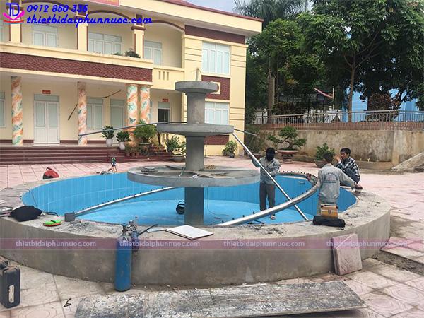 Đài phun nước huyện ủy Tủa Chùa - Điện Biên