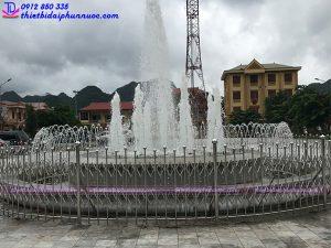 Đài phun nước quảng trường Bắc Sơn - Lạng Sơn