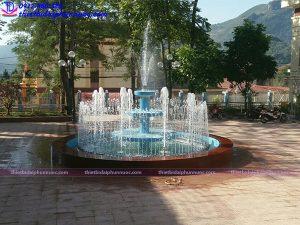 Đài phun nước bê tông huyện ủy Tủa Chùa - Điện Biên