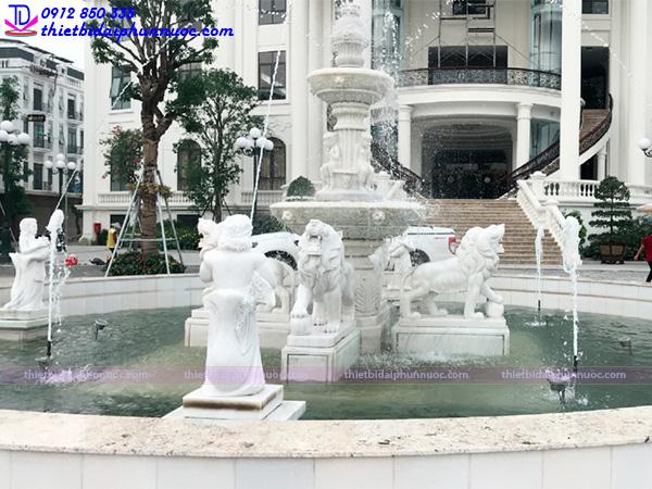 Đài phun nước bằng đá Đại Hoàng Sơn