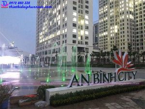Sàn phun nước nghệ thuật An Bình City - HN