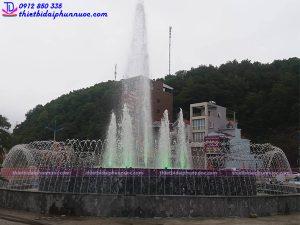 Đài phun nước nghệ thuật tại Vân Đồn - Quảng Ninh