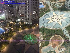 Đài phun nước âm sàn khu đô thị An Bình city 2