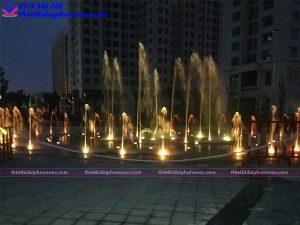 Đài phun nước âm sàn khu đô thị An Bình city 6