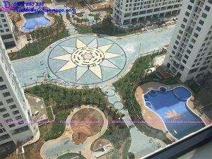 Đài phun nước âm sàn khu đô thị An Bình city 7