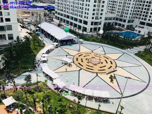 Đài phun nước âm sàn khu đô thị An Bình city 8