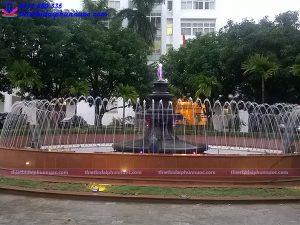 Đài phun nước bể tròn trường Đại học Quốc Gia Hà Nội 8