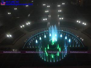 Đài phun nước hình bán nguyệt Đại học Thành Đô 7