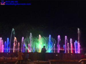 Đài phun nước nghệ thuật thành phố Sông Công 1