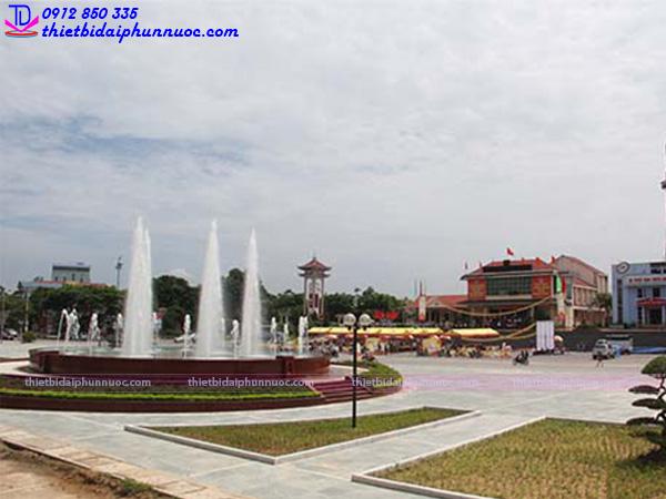 Đài phun nước nghệ thuật thành phố Sông Công 3