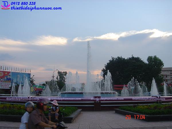 Đài phun nước nghệ thuật thành phố Thái Nguyên 2