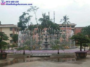 Đài phun nước bể tròn trường Đại học
