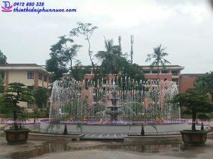 Đài phun nước bể tròn trường Đại học 6