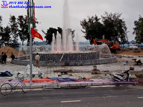 Đài phun nước khu đô thị mới 3
