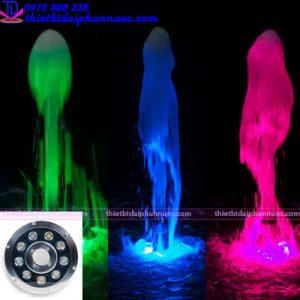 Đèn âm nước dạng bánh xe 9W đổi màu 1