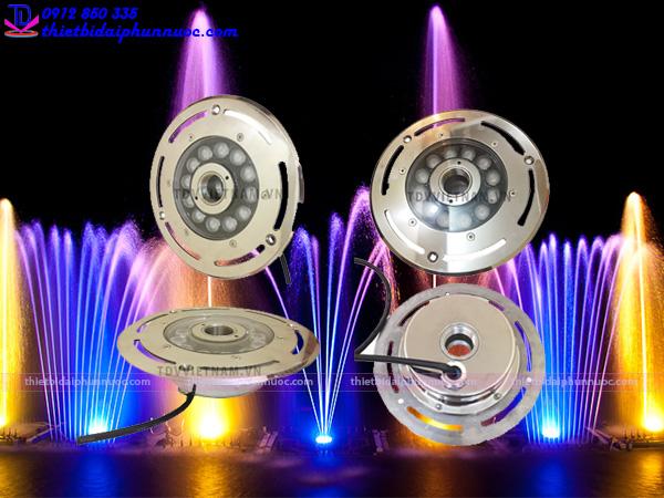 Đèn âm nước dạng bánh xe model mới nhất