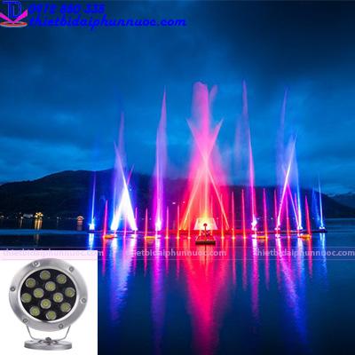 Đèn Led âm nước 12W đổi màu 1