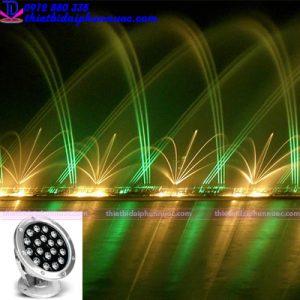 Đèn Led âm nước 54W đổi màu RGB