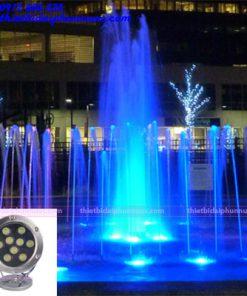 Đèn Led âm nước 9W đổi màu 1