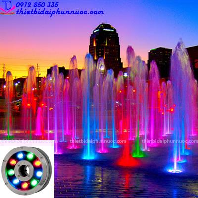 Đèn Led âm nước dạng bánh xe 12W đổi màu 1