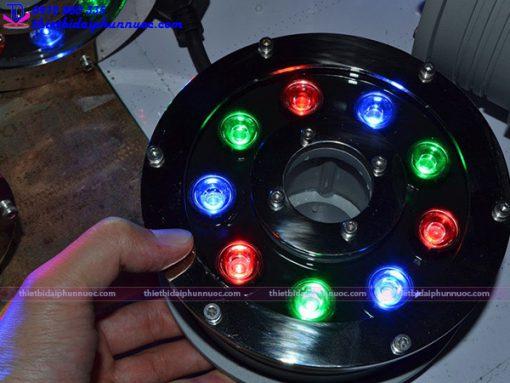 Đèn Led âm nước dạng bánh xe 12W đổi màu 4