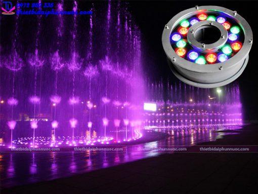 Đèn Led âm nước dạng bánh xe 18W đổi màu 1