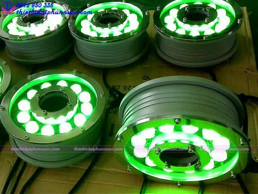 Đèn Led âm nước dạng bánh xe 18W đổi màu 4