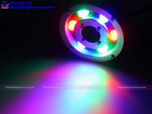 Đèn Led chìm nước dạng bánh xe đổi màu