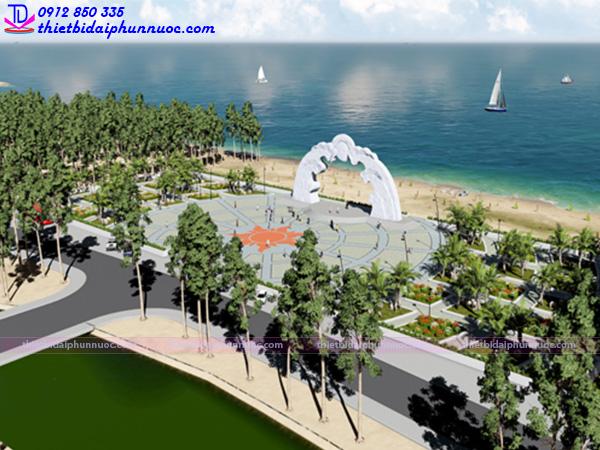 Sàn phun nước nghệ thuật quảng trường biển 5