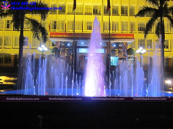 Thi công đài phun nước trụ sở công an Quảng Ninh 1