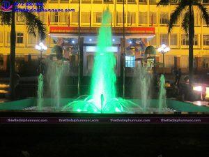 Thi công đài phun nước trụ sở công an Quảng Ninh 2