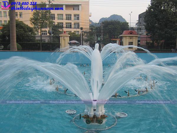 Thi công đài phun nước trụ sở công an Quảng Ninh 4