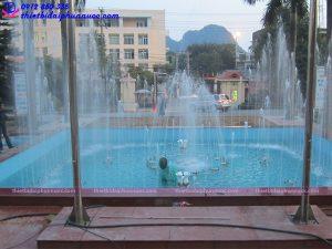 Thi công đài phun nước trụ sở công an Quảng Ninh 7