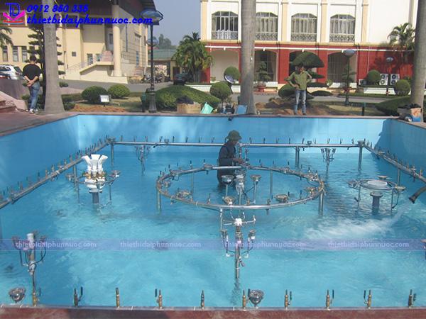 Thi công đài phun nước trụ sở công an Quảng Ninh 8