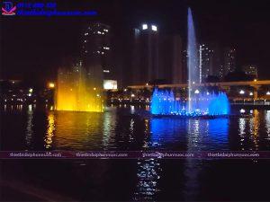 Thiết kế đài phun nước phao nổi công viên Mai Dịch