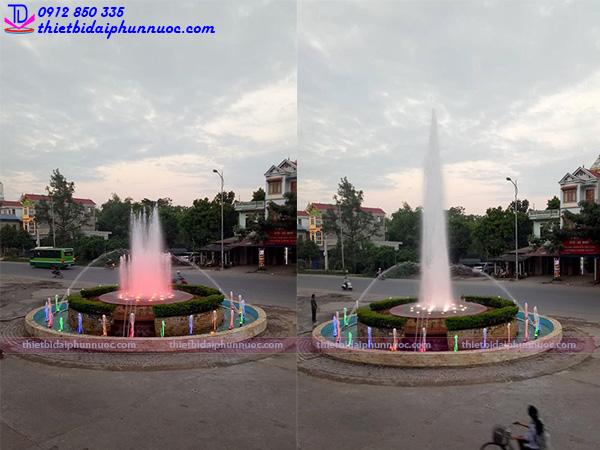 Mẫu thiết kế đài phun nước bể cạn tại TTTM Bình An Sóc Sơn
