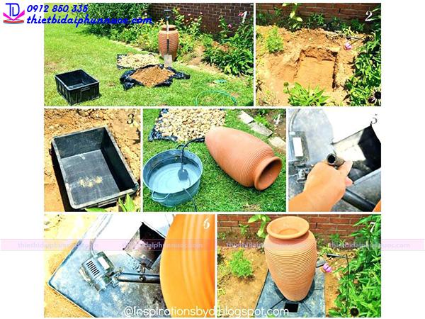 Cách làm đài phun nước mini 4