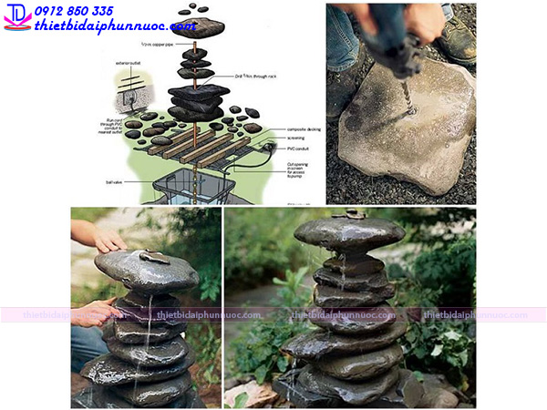 Cách làm đài phun nước mini 9