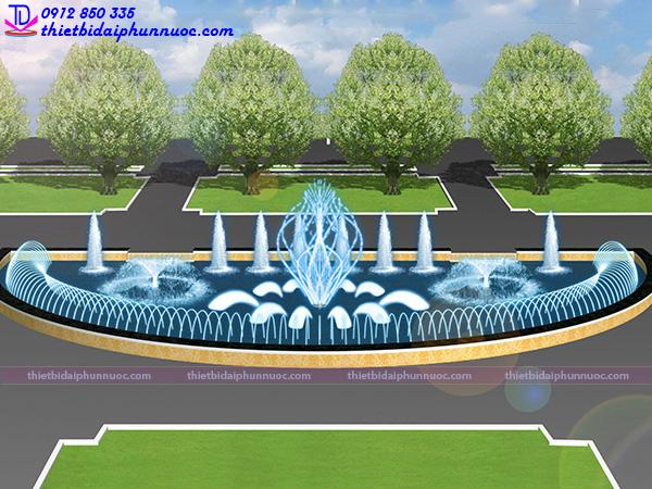 Đài phun nước hình bán nguyệt 6