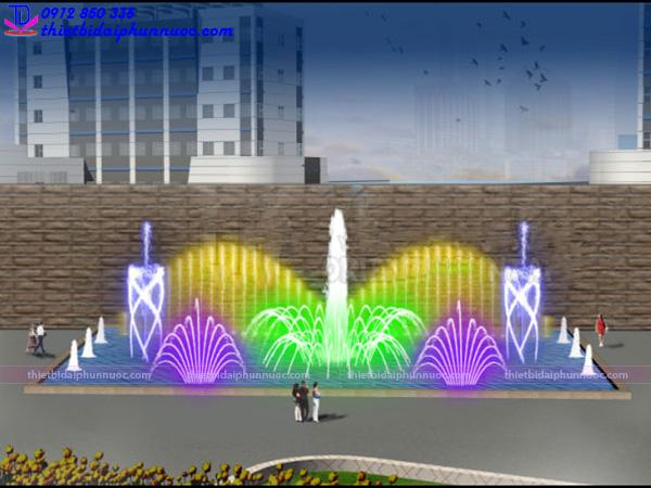 Đài phun nước hình chữ nhật 10