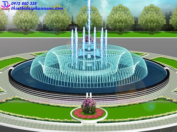 Đài phun nước hình tròn 5