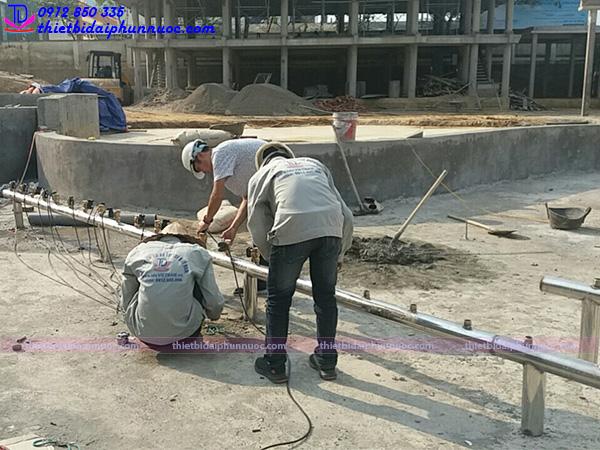 Lắp đặt đài phun nước 7