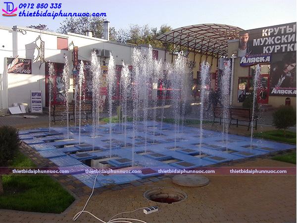 Lắp đặt đài phun nước âm sàn 12