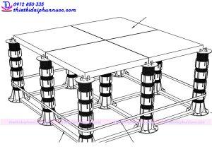 Lắp đặt đài phun nước âm sàn 8