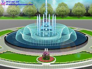 Mẫu đài phun nước 3D 23
